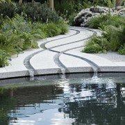 Wasser-Bänder. stilisiertes Flussdelta