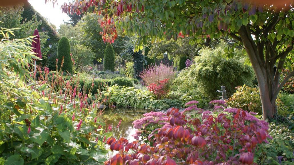 Herbstliche bl te und laubf rbung zinsser for Gartengestaltung cottage