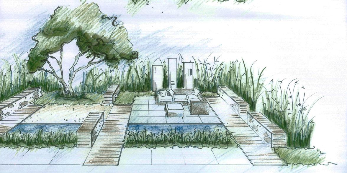 Planungsb ro zinsser gartengestaltung schwimmteiche und for Gartengestaltung zeichnung