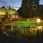 Indirekte Gartenbeleuchtung im Wasser und für Pflanzen, da sind wir professionell