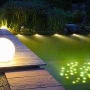 Licht im Garten, Up-Lights, Strahler und LED-Technik