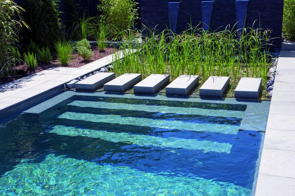 ... Pool Und Grüne Filterzone Kombiniert Mit Einem Fertigen Becken Von  Rivierapool ...