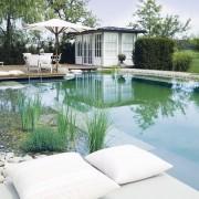 ästhetischer Badeteich mit großer Schwimmzone in Seevetal und Amelinghausen