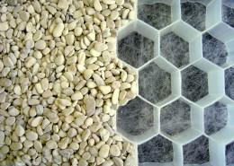 Kies-Wabenmatten zur Stabilisierung von Kiesflächen und Schotterflächen