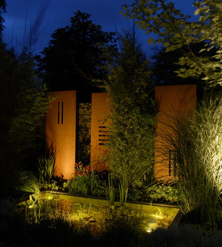 indirekte beleuchtung fur den garten beleuchtung im. Black Bedroom Furniture Sets. Home Design Ideas