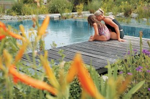 Schwimm- und Badeteich natürlich und chlorfrei für kleine Gärten bauen wir mit dem Patant von TeichMeister