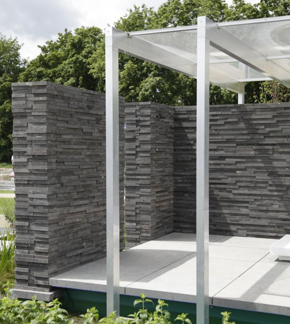 Terrasse Sichtschutz Holz Modern