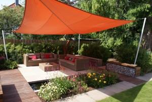 Sonnensegel in Action Garten- und Landschaftsbau in Uelzen