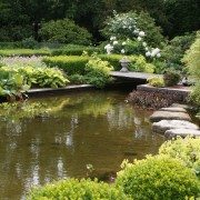 Gartenteich mit Trittsteinen