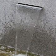 Garten verschönern und planen mit Wassergeräusche und einer Wasserwand