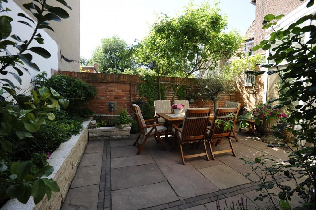 kleine gärten, patio & atrium › zinsser gartengestaltung, Gartenarbeit ideen